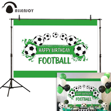 Allenjoy birthday photography background football sports children party backdrop photocall photozone photophone vinyl fabric