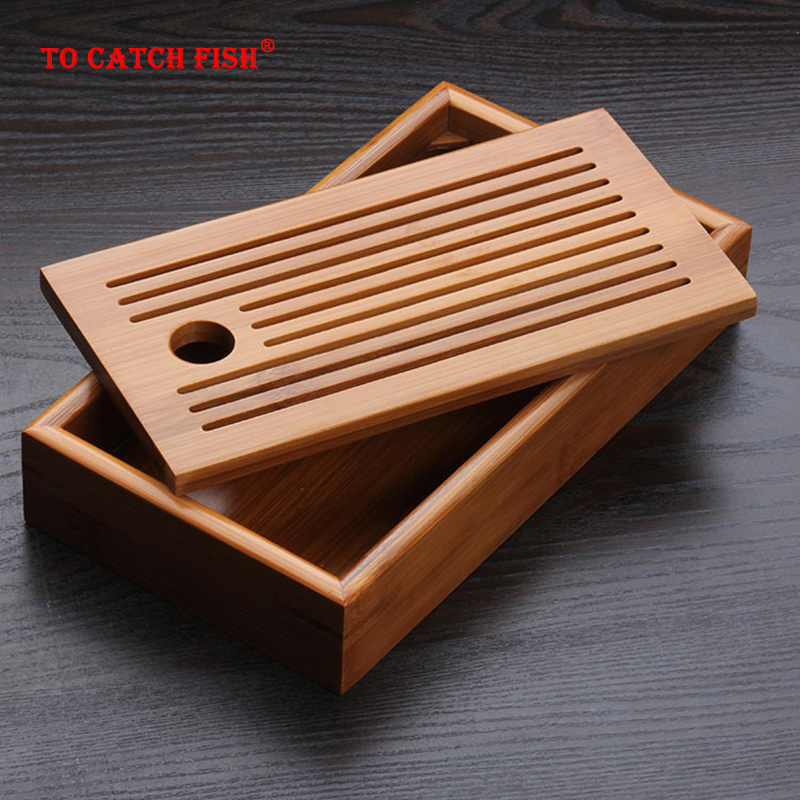 Chinese Traditions Bamboo Tea Tray Solid Bamboo Tea Board Kung Fu Tea Tools For Cup Teapot Crafts Tray,Chinese Culture Tea Set