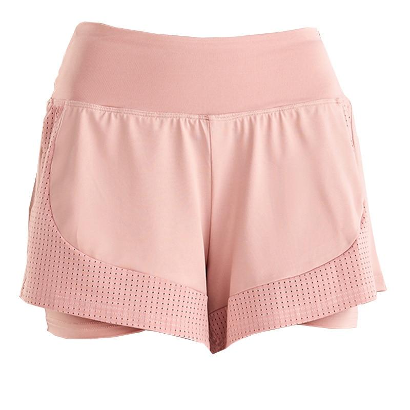 Shorts Women Workout Shorts High Waisted Running Shorts Double Layer Quick-drying Athletic Yoga Shorts Fitness Shorts (17)