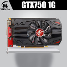 Veineda gtx750 1gb gddr5 placa gráfica gaming desktop computador pc placas de vídeo suporte dvi pci-e x16 3.0