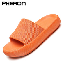4.5cm Thick Sole House Slippers Men Women Non-slip Bathroom Boys Girls Lovers Flip Flops Summer Beach Sandals Platform Flat Shoe