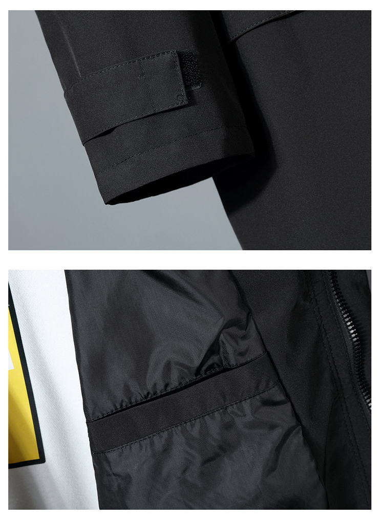 jaqueta masculina casaco de moda trench coat
