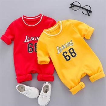 Nowa jesienna i zimowa nowa ciepła odzież z długimi rękawami dla noworodków jednoczęściowy romper dla niemowląt odzież sportowa dla niemowląt tanie i dobre opinie COTTON W wieku 0-6m 7-12m 13-24m 25-36m 3-6y 7-12y 12 + y CN (pochodzenie) Unisex Na co dzień O-neck Zestawy Przycisk zadaszone