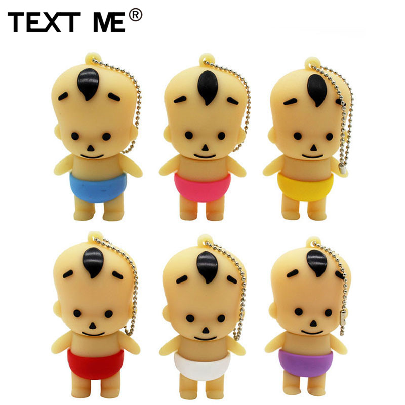 TEXT ME Cute Pin Yellow Red Purple Withe Colour Mini Baby Usb Flash Drive Usb 2.0 4GB 8GB 16GB 32GB 64GB Pendrive Gift Usb