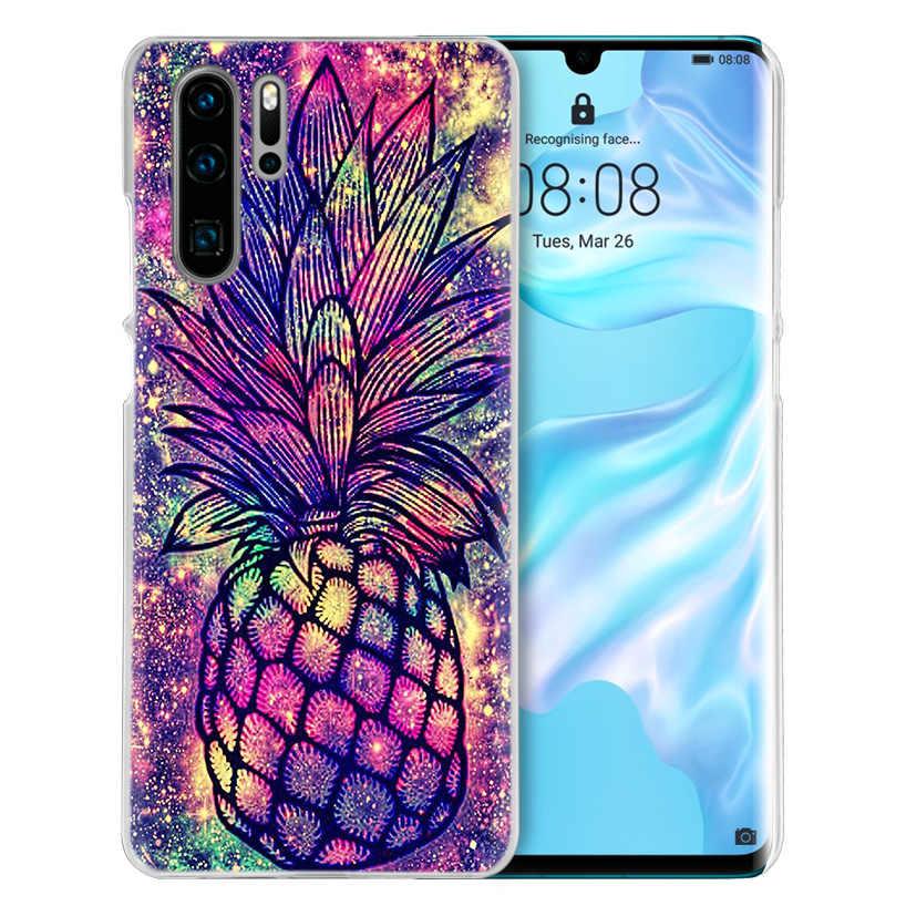 ピンクパイナップルケース huawei 社メイト 30 20 10 P20 P30 Lite Pro の P スマート Y9 プライム 2019 名誉 8A 8X 10i PC 電話カバーバッグ