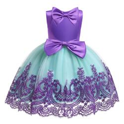 2019 Baby Girls Dress Big Bowknot Infant Party Dress For Toddler Girl First Brithday Baptism Clothes Open back Baptism Dresses
