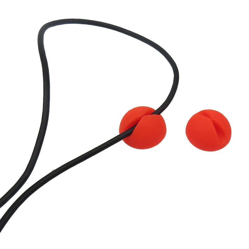Clip redondo para teléfono, bobinador de Cable, abrazadera de bobina, protector de auriculares, corbatas, organizador, fijador de Cable, soporte, gestión de colación