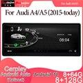 Android 10 Автомобильный мультимедийный DVD стерео радио плеер GPS навигация Carplay авто для AUDI A4/A5(2015-today) 2din