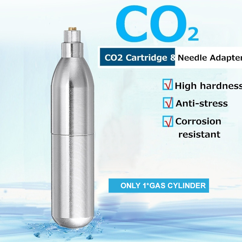 Rechargeable 12g CO2 Cartridges Mini Reusable Refill Gas Cylinder Capsule Airsoft Shooting Airgun Hunting Paintball