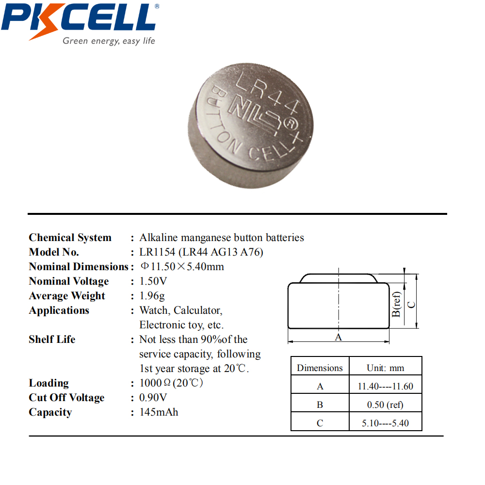 Image 2 - 100Pcs/10card 1.5V AG13 LR44 L1154 RW82 RW42 SR1154 SP76 A76 357A Battery Coin Cell Button Batteries for thermometer batteryl1154 batterylot ringlots of christmas games - AliExpress