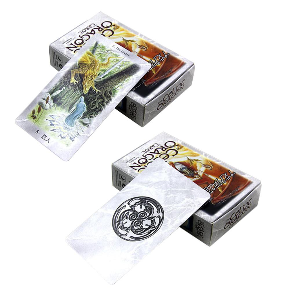 The Dragon Tarot Cards Factory Made High Quality Tarot Card With Colorful Box Cards Game Board Game Family Holiday Playing Cards