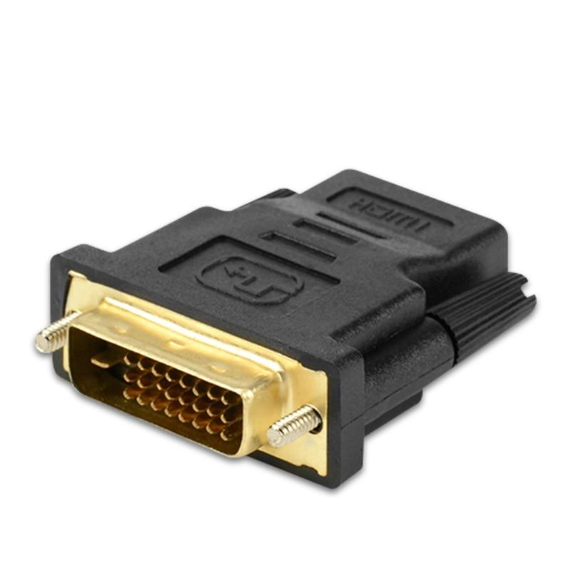 DVI Мужской к совместимому с HDMI переходник с внутренней резьбой DVI (24 + 1) к HDMI-совместимых разъем