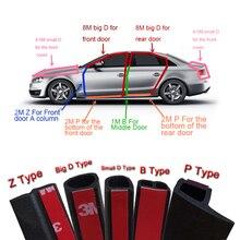 1 метр P B D Z тип автомобиля резиновое уплотнение звук изоляционный уплотнитель отделка края шумоизоляция двери автомобиля уплотнительная лента аксессуары