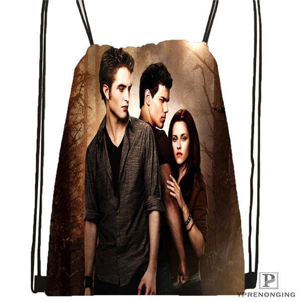 Custom Twilight-vampires-Drawstring Backpack Bag Cute Daypack Kids Satchel (Black Back) 31x40cm#180611-03-128
