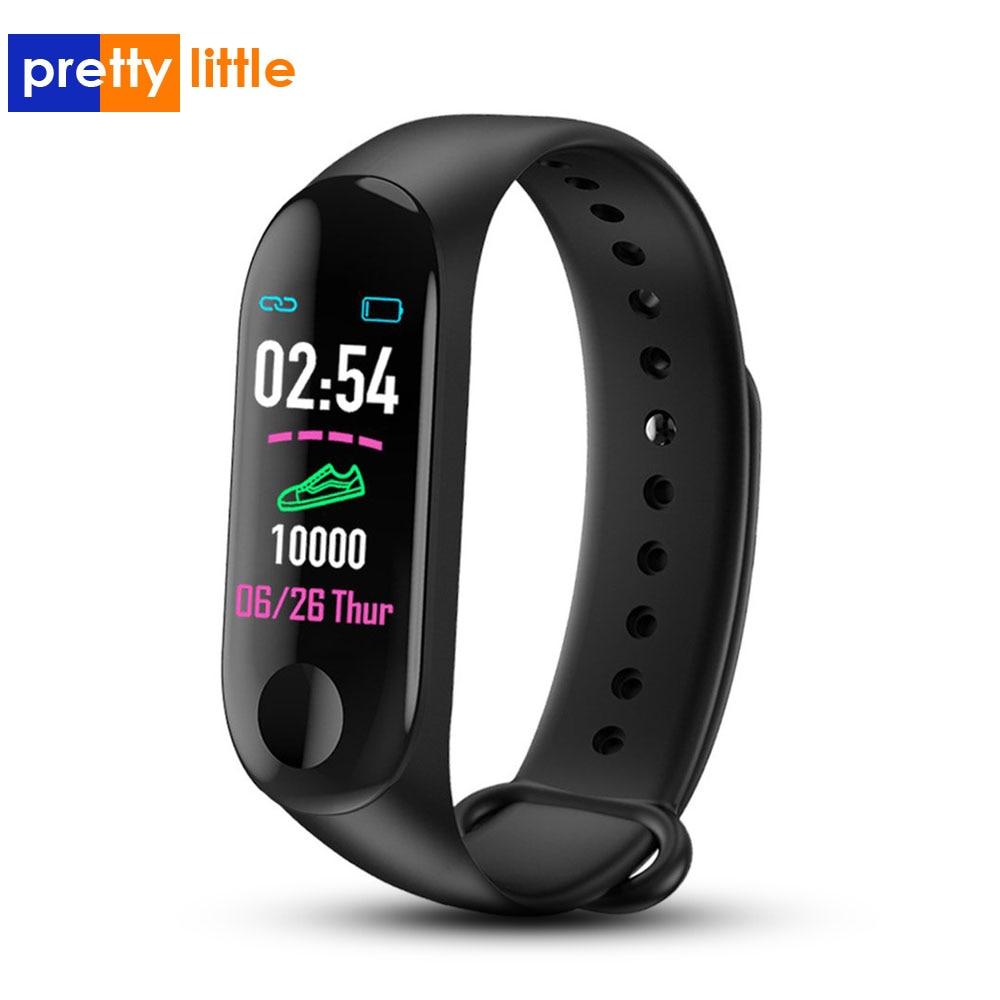 Pulsera Color pantalla táctil rastreador de Fitness presión arterial Monitor de ritmo cardíaco pulsera inteligente banda inteligente para entrenamiento M3 reloj deportivo