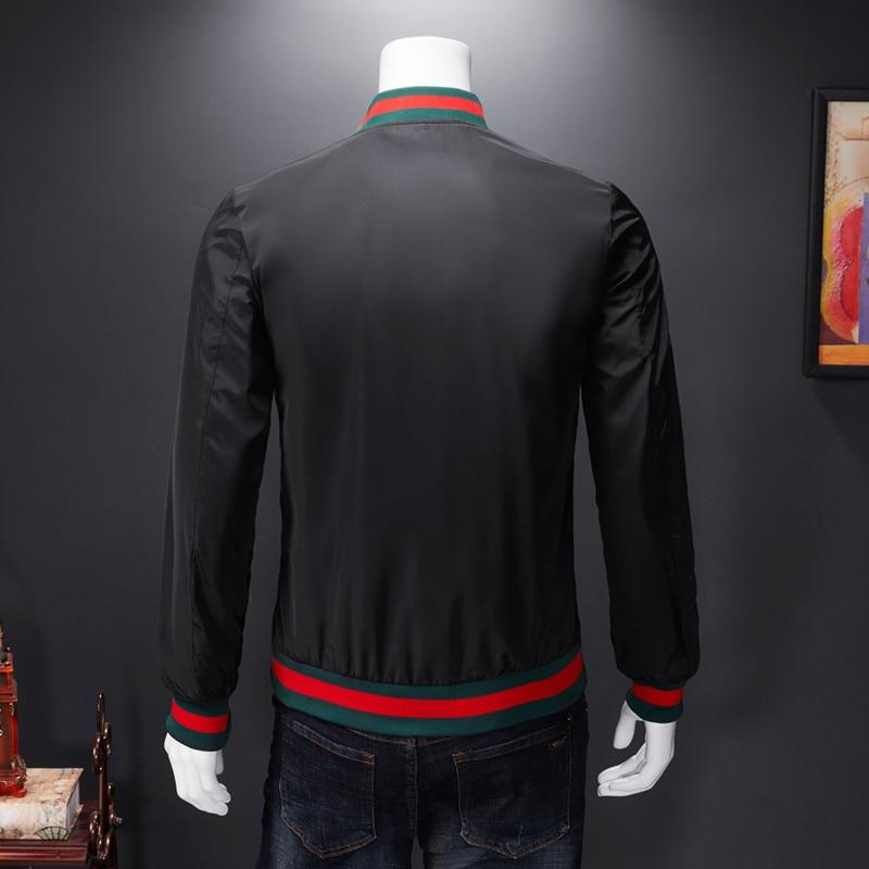 Men Bomber Jacket Thin Slim Long Sleeve baseball Jackets Windbreaker Zipper Windbreaker Jacket Male Outwear Brand Clothing Y278 3