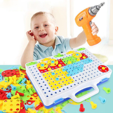 149/193 Pcs Children's Drill Toys Screw Puzzle Assembled Toys Kids Learning Educational Game Gifts Baby Screwdriver Mosaic Toy