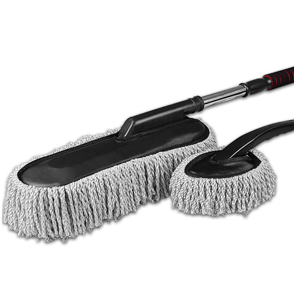Duster Cleaning-Brush Microfiber Car-Wash Adjustable Long/short-Handle with Mop title=