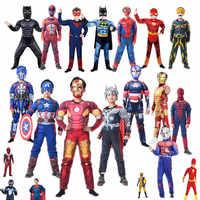 Halloween Kind Muscle Superhero Kostüm, Superman-Panther Eisen Mann Heroine Cosplay Weihnachten Kostüm