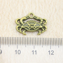 Alibaba Retail Store 1 Piece 13x20mm Crab Charms Pendant Lot Crafts Accessories(China)