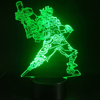 3D Lamp Game Overwatch Hero Junkrat Colorful with Remote Bright Base Touch Sensor Atmosphere Dropshipping Led Night Light Lamp фото