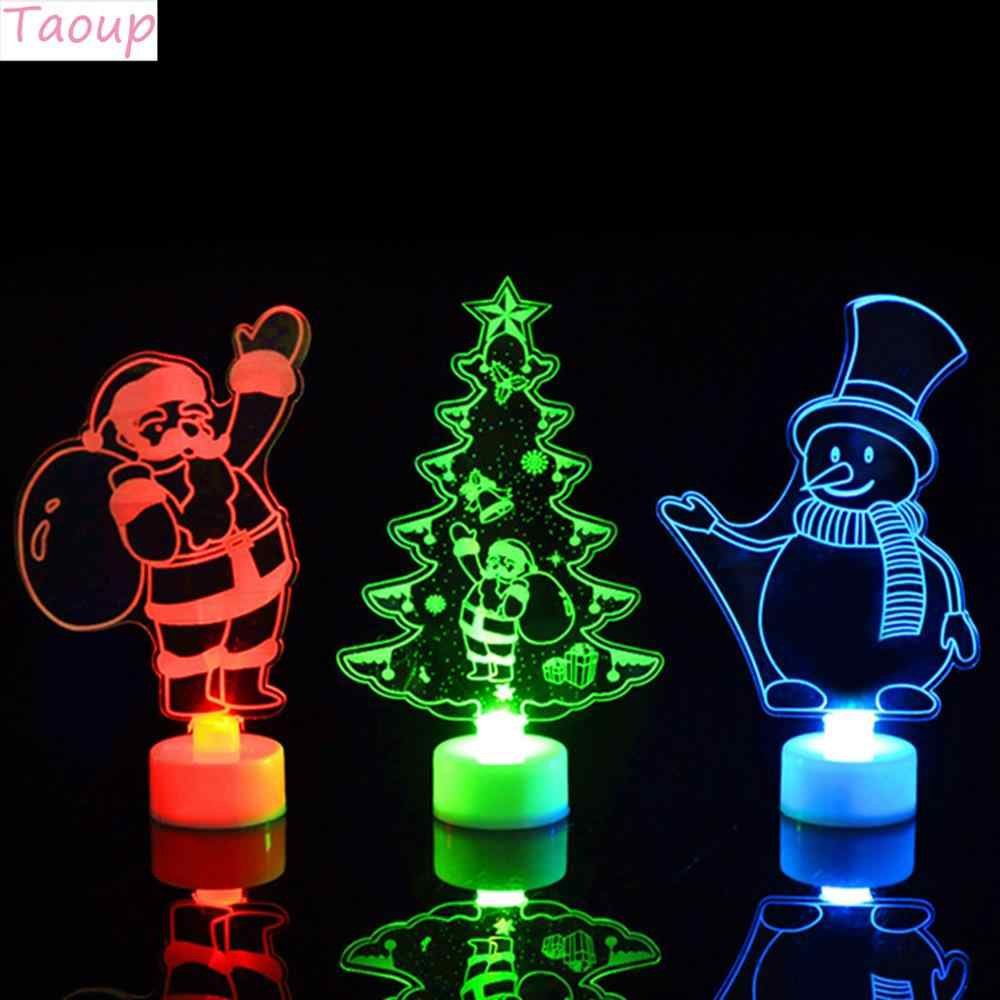 Taoup Frohe Weihnachten Led-leuchten Anhänger Drop Ornamente Weihnachten Tisch Dekoration für Startseite Xmas Licht LED Noel Decor Santa Heißer