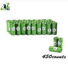 Sacos de cocô de cachorro 450 contagens 30 rolos 10 micron grande gato sacos de lixo saco de cachorro verde preto cor-de-rosa sacos de lixo