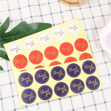 100pcs/lot Kawaii Round color hot stamping red blue white Thank you Self-Adhesive Decorative Stickers Sealing Sticker DIY Gift