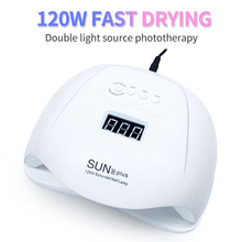 120W UV หลอดไฟ LED เครื่องเป่าเล็บ 36 PCS LED Dual เล็บสำหรับบ่ม UV GEL เจลเล็บภาษาโปลิชคำพร้อมเซนเซอร์จอแสดงผล LCD
