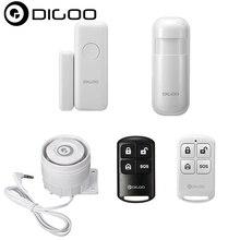Digoo DG-HOSA Security Alarm Kits Window Door Sensor PIR Detector Wireless Remote Controller External Alert Siren for Smart Home