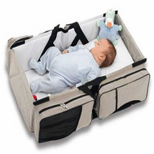Folding Portable Baby Travel Crib Bed Carry Cot & Shoulder Accessories Bag 70 x 40 20cm