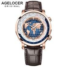 AGELOCER Men Watch Swiss Luxury Brand Worldtime Automatic Me