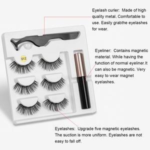 Image 3 - 3 Pairs Magnetische Eyelashs set Wasserdichte Lange Dauerhafte Wimpern Verlängerung Magnetische Wimpern Set Einfach Zu Tragen Magnetische Falsche Wimpern