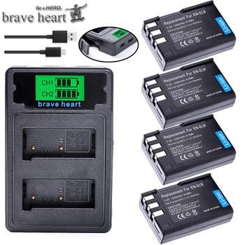 EN-EL9 EN EL9 EN-EL9a EN EL9a EL9a batterie Li-ion + double chargeur USB LCD pour Nikon EN-EL9a D40 D60 D40X D5000 D3000