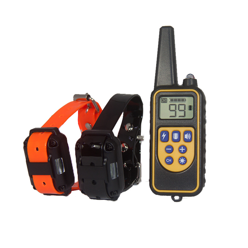 Remote Control Dog Trainer 800 M Remote Control Distance Training Device LCD Backlight Display
