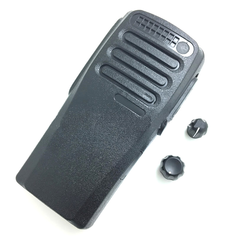 25pcs/lot Black Color Housing Shell Front Case With Volume And Channel Knobs For Motorola XIR P3688 DP1400 DEP450 Walkie Talkie