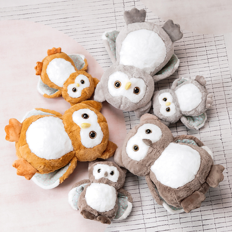Caliente nuevo peluche búho de felpa de juguete suave Animal relleno simulación muñecos de pájaros juguetes de los niños casa decoración niños regalos de navidad cumpleaños