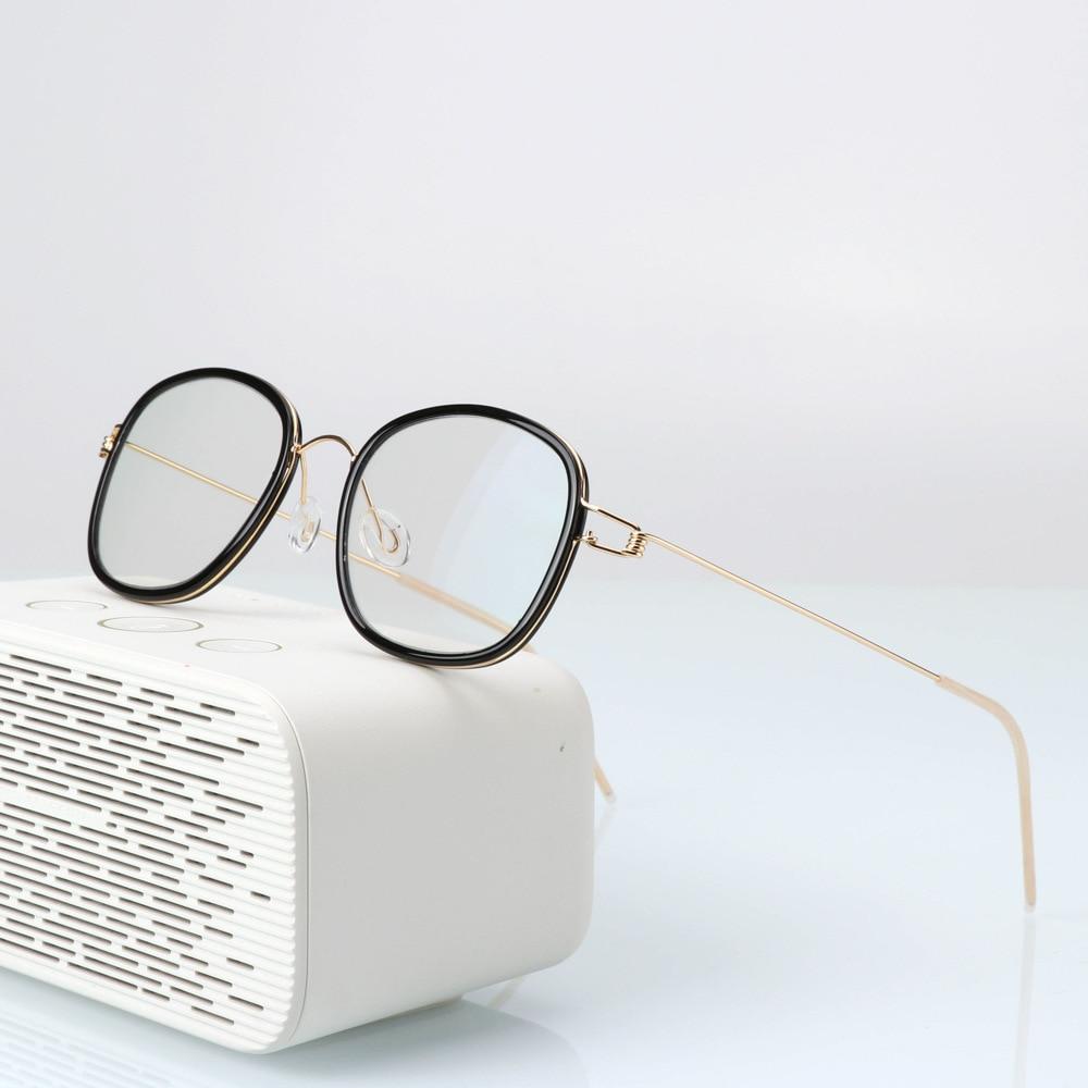 Screwless Reading Glasses 2020 Handmade Design Intelligent Color Changing Eyeglasses Metal Frame Square Spectacles UV Protection