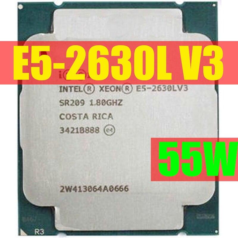 Процессор Intel Xeon OEM версия E5 2630LV3, 8 ядер, 1,80 ггц, 20 мб, 22 нм, процессор E5 2630L, V3, оригинальная версия, с поддержкой процессоров, с процессором, с по...