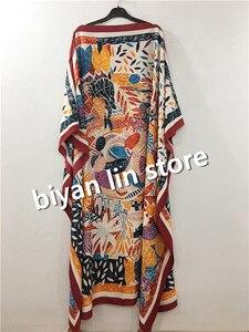 Image 5 - 着丈: 130センチメートルバスト: 130センチメートル2020新ファッションバザンプリントdashiki女性ロングドレス/ガウンyomadouカラーパターン特大