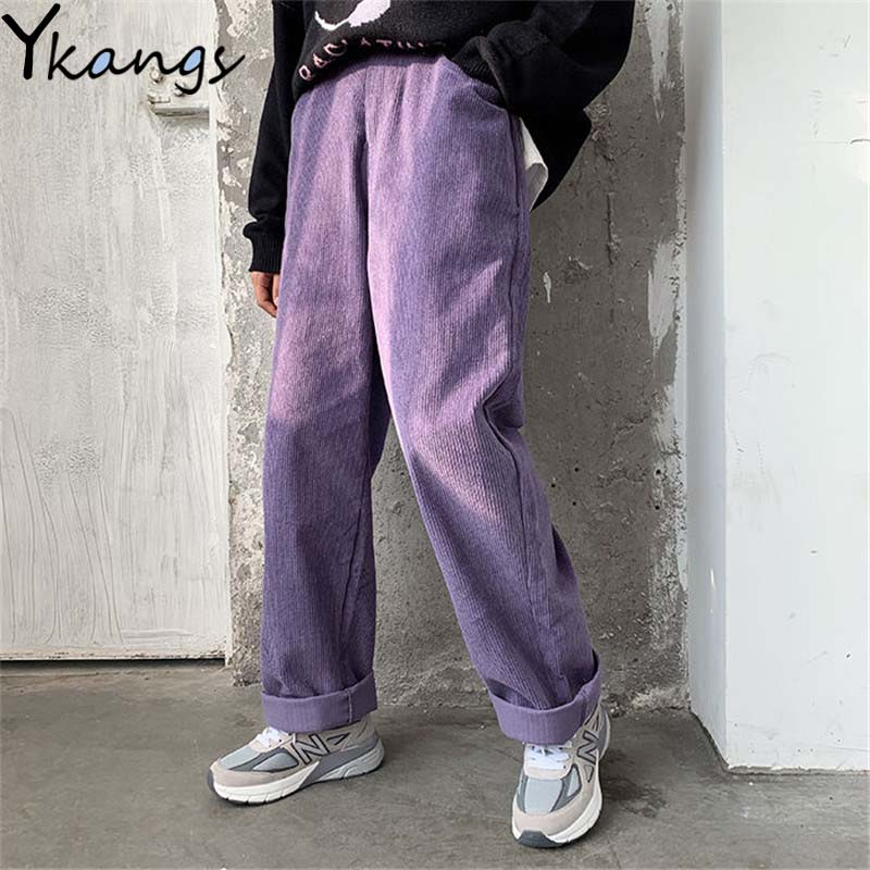 Korean Fashion Trousers High Waist Baggy Pants Women Straight Wide Leg Pants Loose Harajuku Style Hip Hop Streetwear Ladies Pant