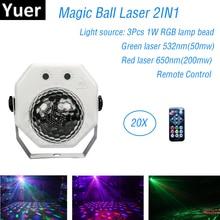 цена на Newest 2019 Dj Laser RGB Stage Lights Laser Projector LED Effect Disco Bar Light Christmas Holiday Party Magic Ball Lights KTV