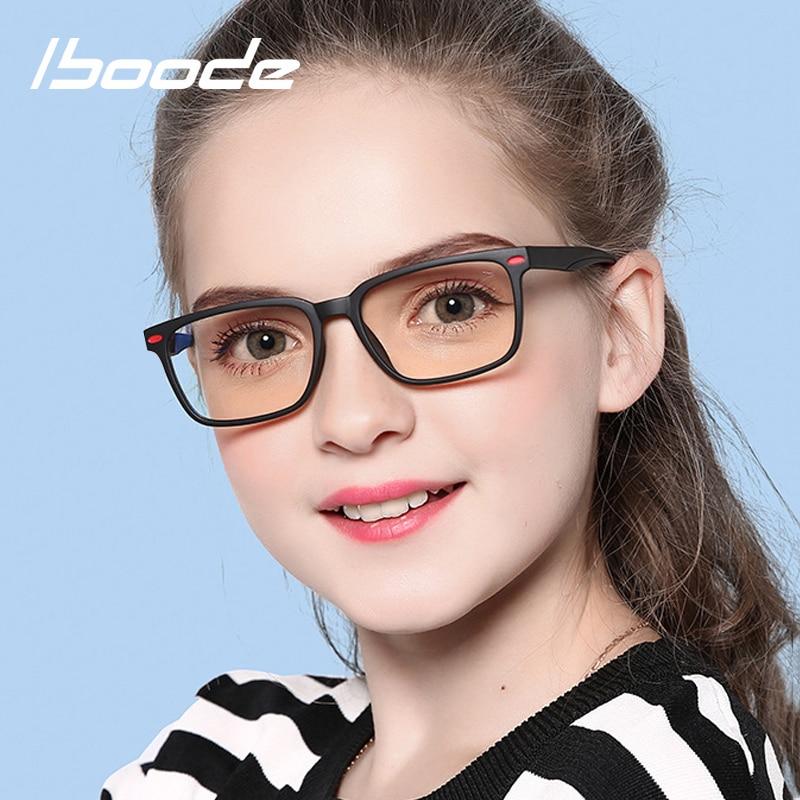 Iboode Anti Blue Light Optical Glasses Frame Kids 2020 New Eye Protection Computer Glasses For 7-12 Year Boys Girls TR90 Eyewear