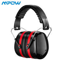 Mpow HP056 SNR 34dB Noise Reduction Safety Ear Muffs Hearing Protection Soft Foam With Carrying Bag For kids Adults Shooting