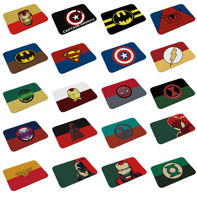 New Avengers Carpet Marvel Plush Toys Batman Spiderman Iron Man Captain America Rug Flannel