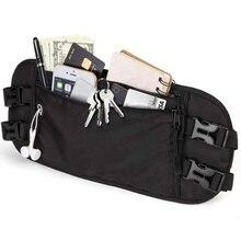 waist bag OEM Waterproof nylon ladies and men Anti Theft Fashion Design RFID Travel Money Belt Hidden
