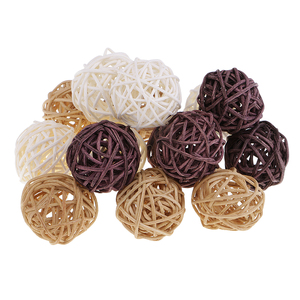 Mixed Wicker Rattan Balls - Decorative Balls for Bowls, Vase Filler, Coffee Table Decor, Wedding Party Decorations(China)