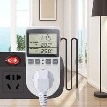 Digital Socket-Outlet Probe Timer-Switch-Sensor Temperature-Controller Heating 220V
