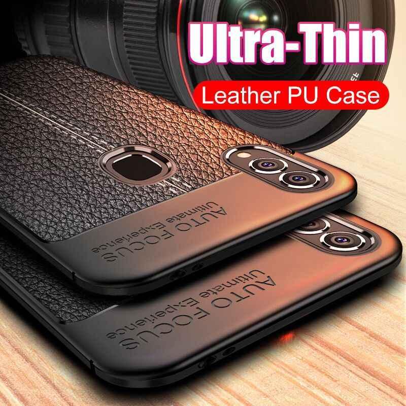 Ultra cienka skóra PU miękkie etui do Huawei Honor 20 Pro 8 9 10 Lite 8X Max silikonowa pełna pokrywa P Smart 2019 Slim ramki zabezpieczające przed uderzeniem