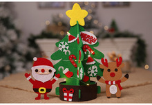 Christmas Toys Mini Size Festival Party Decorations Kids DIY Toy  with Light Art and Children Handmade Christmas Toy Gifts